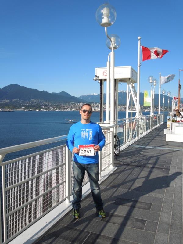 running bib Vancouver Marathon 2013
