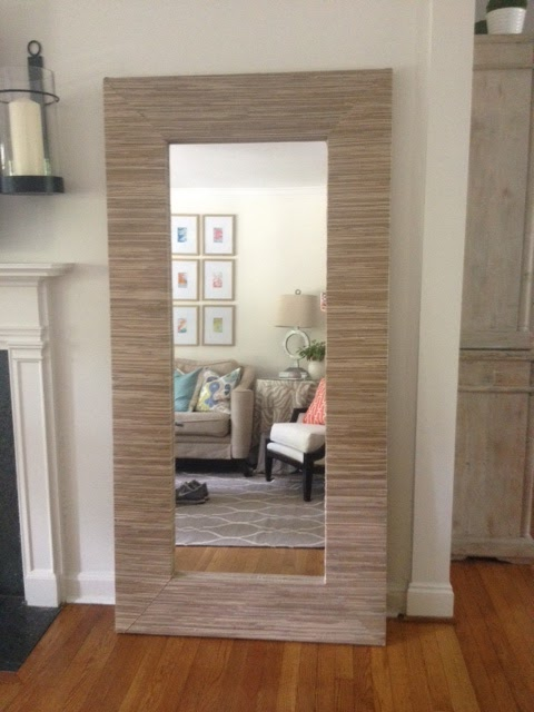 Home with the Hills: Grasscloth Mirror DIY