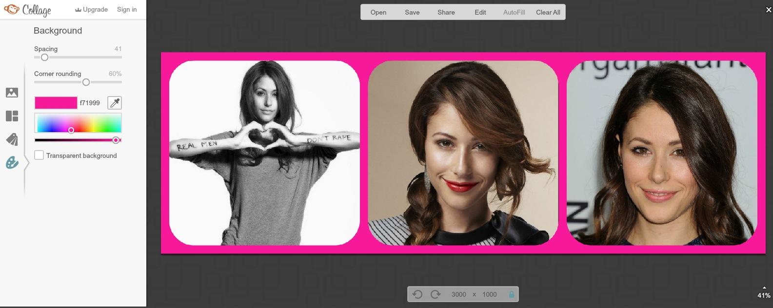 Creeaza colaj online - fundal si colturi poze