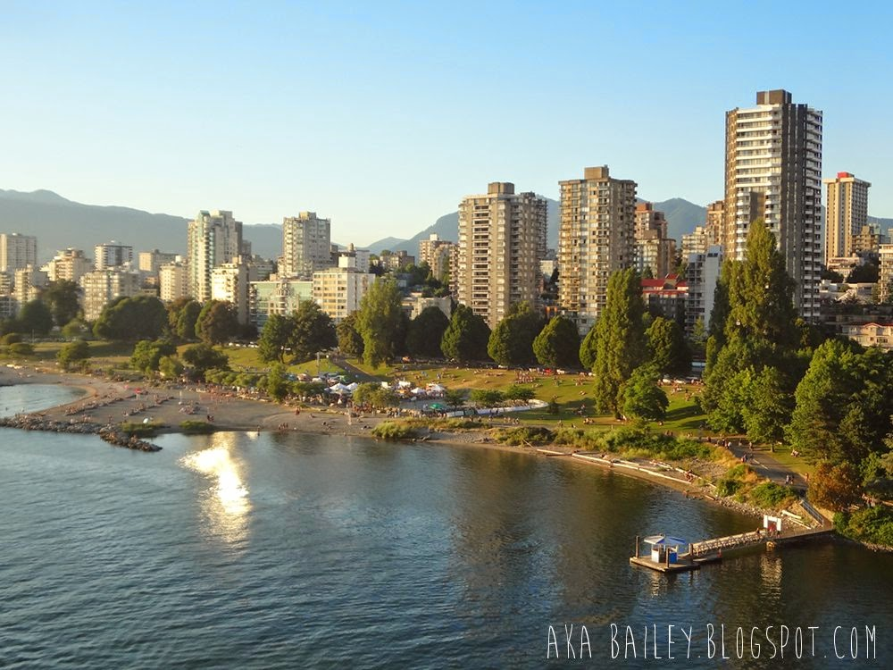 Sunset Beach from the Burrard Bridge