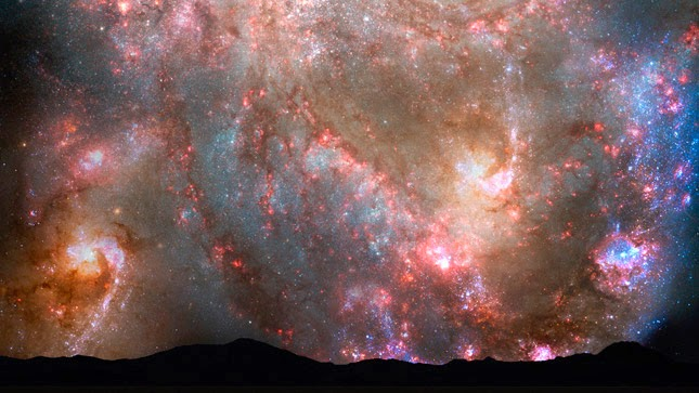 Imagens do céu nos próximos 7 milhões de anos