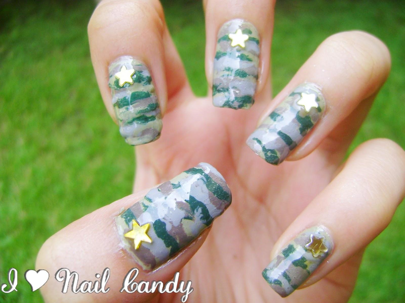 Camo Nail Art Tutorial I chose a camouflage nail artCamo Nail Art Tutorial