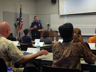 Residents of Huntsville learn about their police department at the Citizen Police Academy.