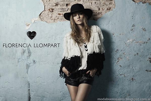 Florencia Llompart otoño invierno 2014. Moda tejidos otoño invierno 2014.