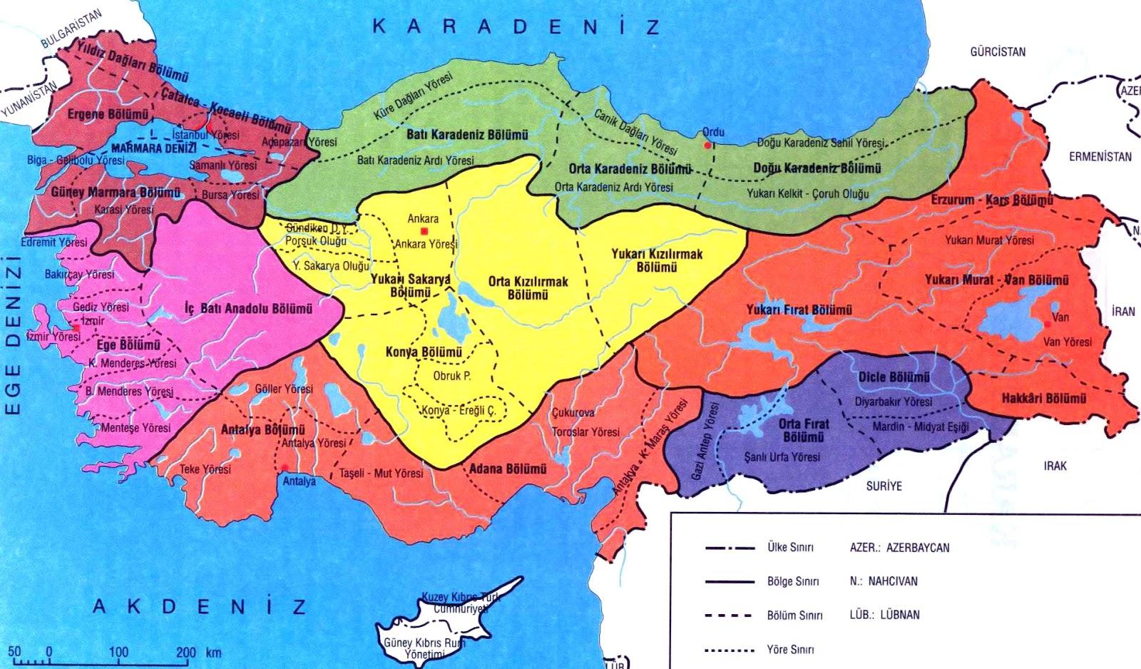 Türkiye nin coğrafi bölgeleri konu anlatımı
