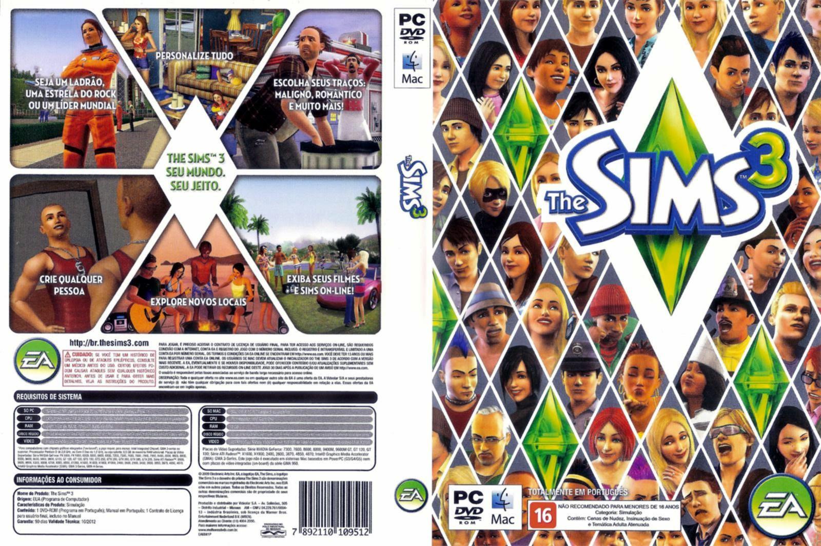 jogos virtuais The Sims 3