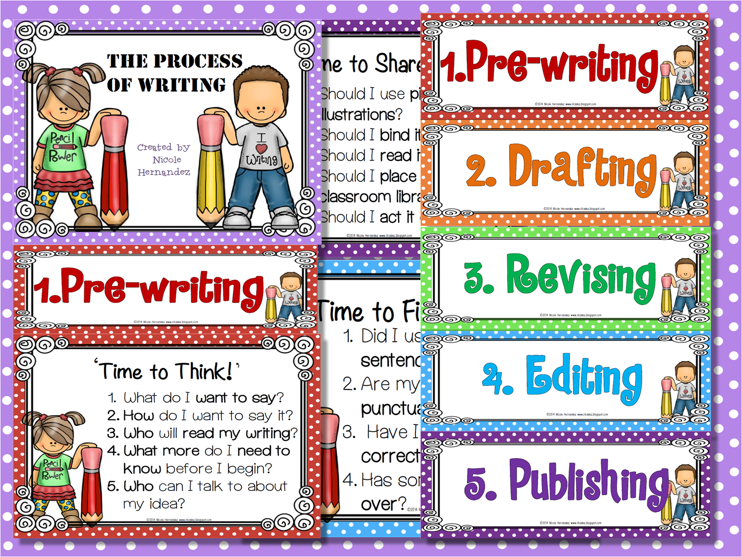 http://www.teacherspayteachers.com/Product/The-Process-of-Writing-Posters-The-5-Steps-to-Writing-Success-1184589