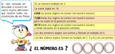 Descubre el número, El número oculto, Descifra el número, Qué número es, Pasatiempo, Desafío Matemático, Problemas matemáticos