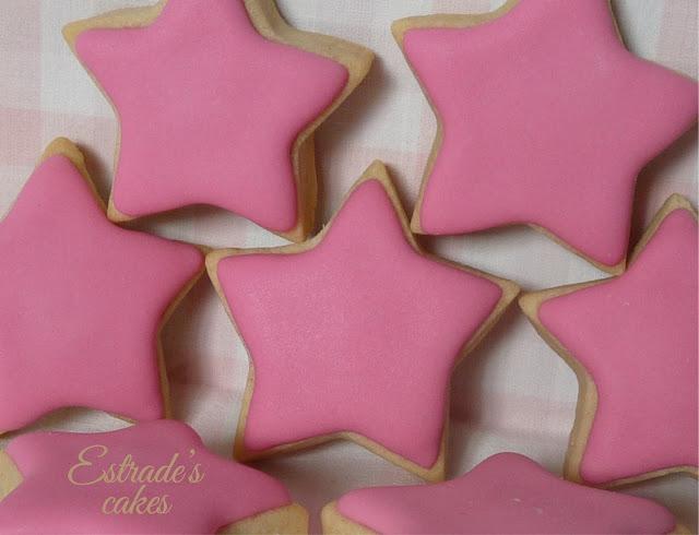 galleta de estrellas con glasa 2