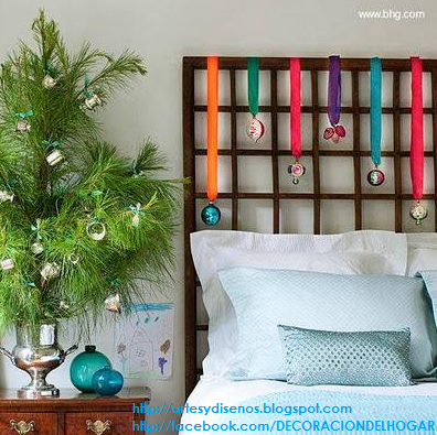 Decorar dormitorios para navidad bedroom christmas - Decoracion de navidad para oficina ...