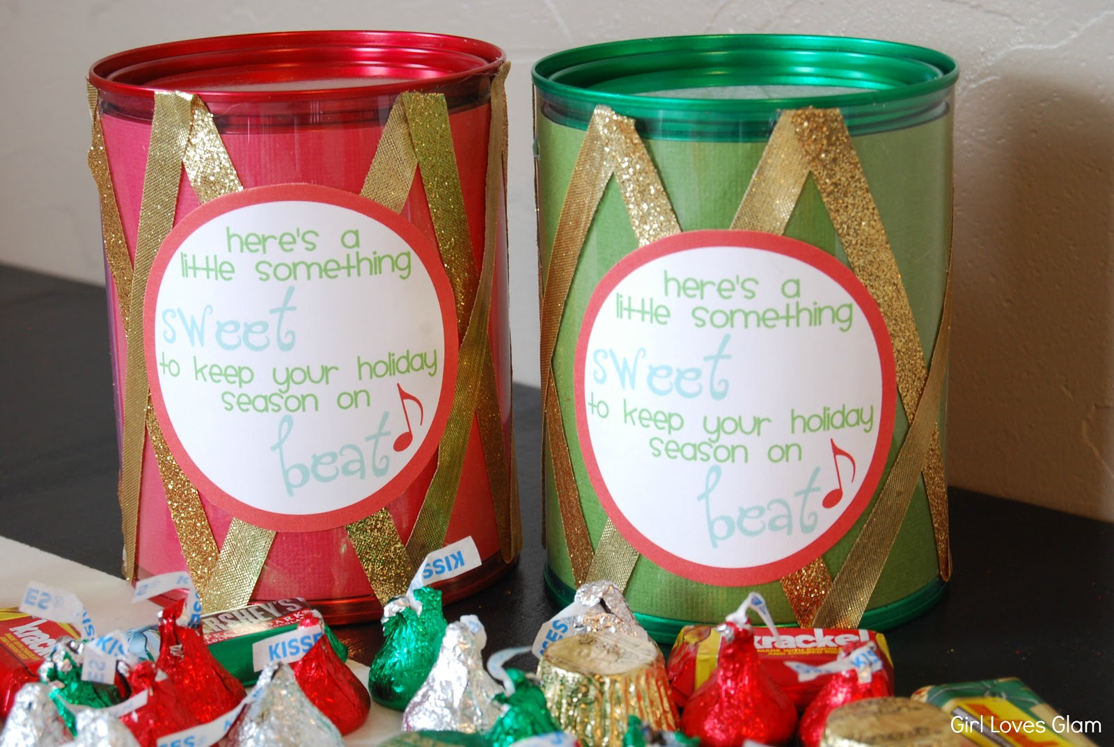 12 Drummers Drumming {Christmas Drum Candy Gift}