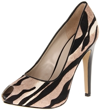 Nine West Women's Zebra Print Peep-Toe Pump