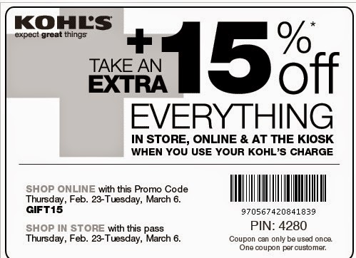 Kohls com coupon code