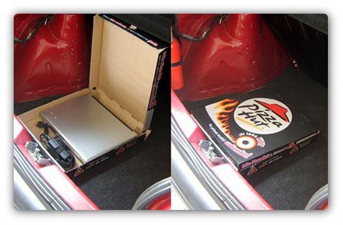 Caja de pizza para laptop