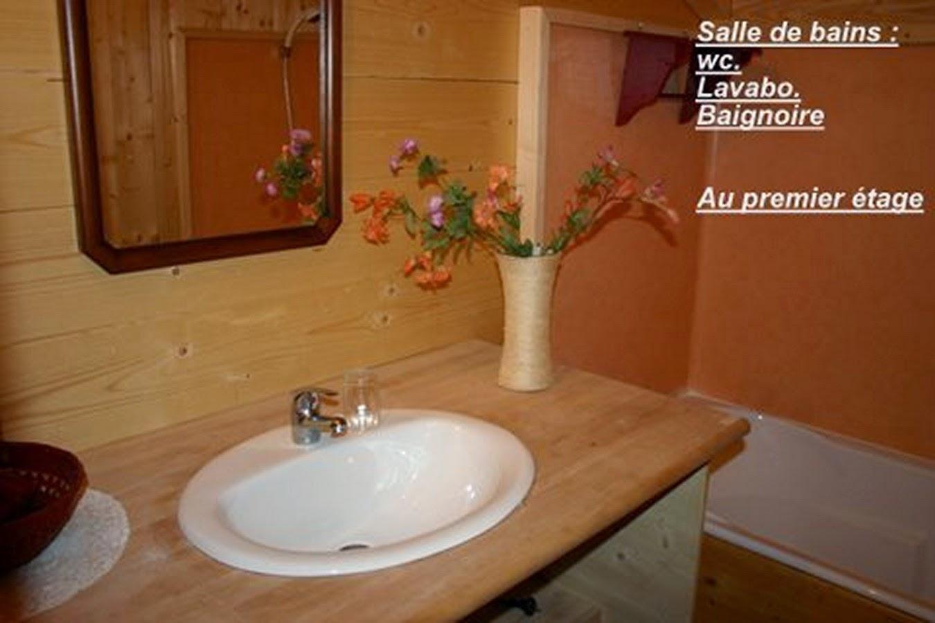 Salle de bains du 1 er étage chalet le DARBON
