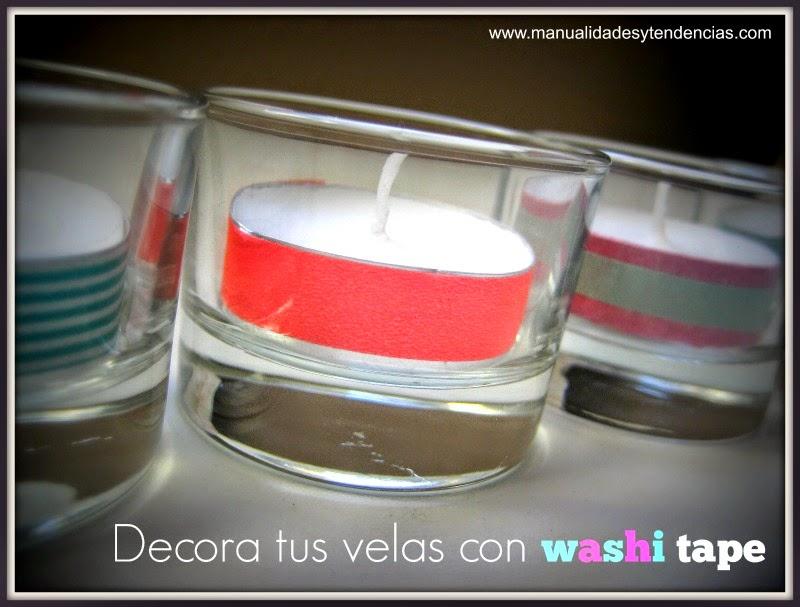 Portavelas express con washi tape