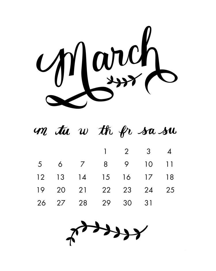 Calendar Typography : Molly jacques free printable calendar