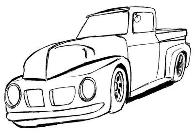 Desenhos Para Colorir desenhos de caminhonete e fusca para copiar