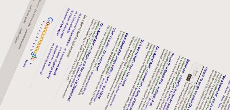 Do A Barrel Roll Google Aramasında 360 derece Dönen Arama Sayfası