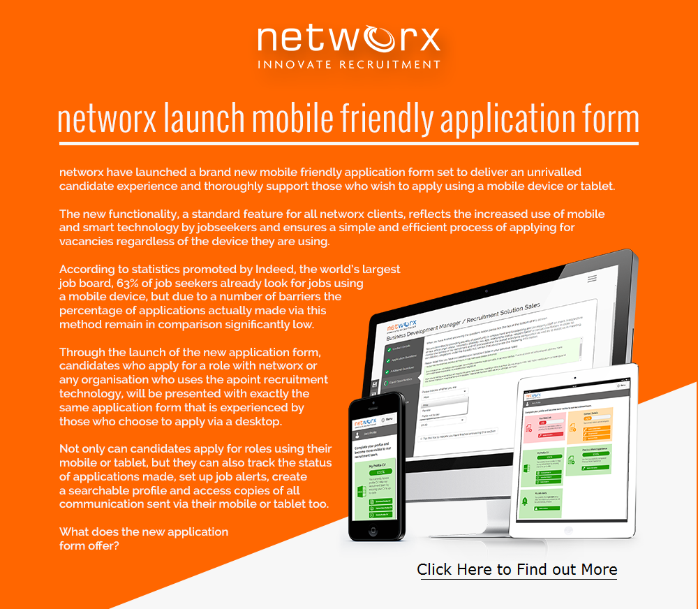welcome to the blog of networx recruitment  is your organisation able to offer job seekers a mobile friendly application process