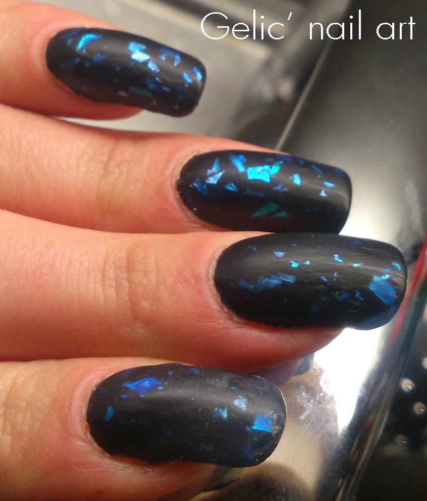 Matte Black Glitter Nail Polish: Gelic' Nail Art: H&M Glitter Nailpolish
