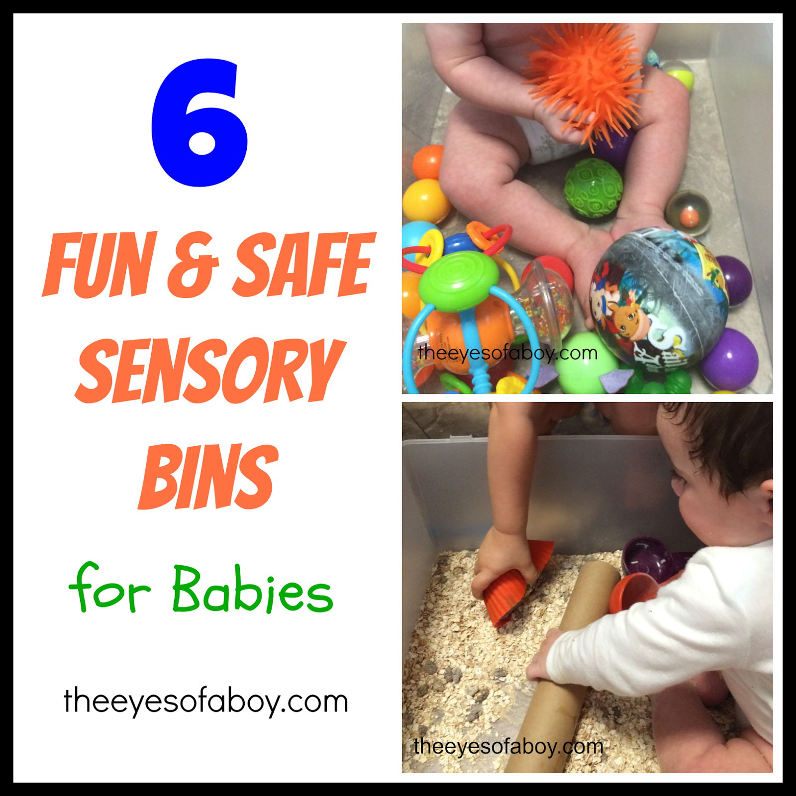 6 Fun and Safe Sensory Bins for Babies