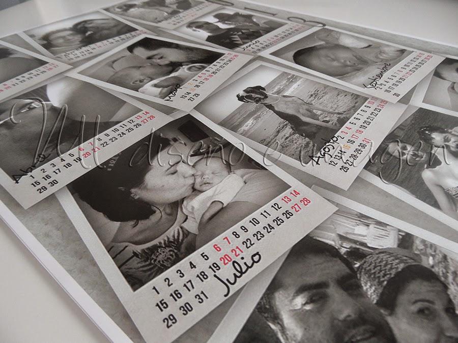 """Calendario """"Polaroid"""""""