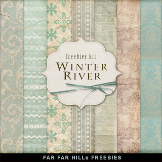 Freebies Backgrounds Kit - Winter River