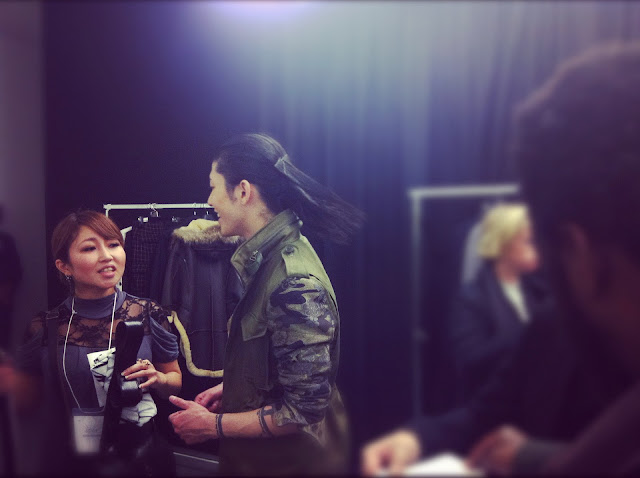 MIYAVI 雅 MIHARAYASUHIRO FALL WINTER 2012 2013 BACKSTAGE PARIS MENS FASHION WEEK