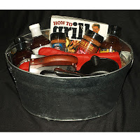 barbecue smoker grilling gift basket