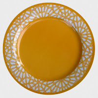 Moorish Pattern Yellow Plate