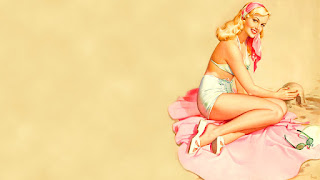 2 Wallpaper Vintage Pin Up Girl