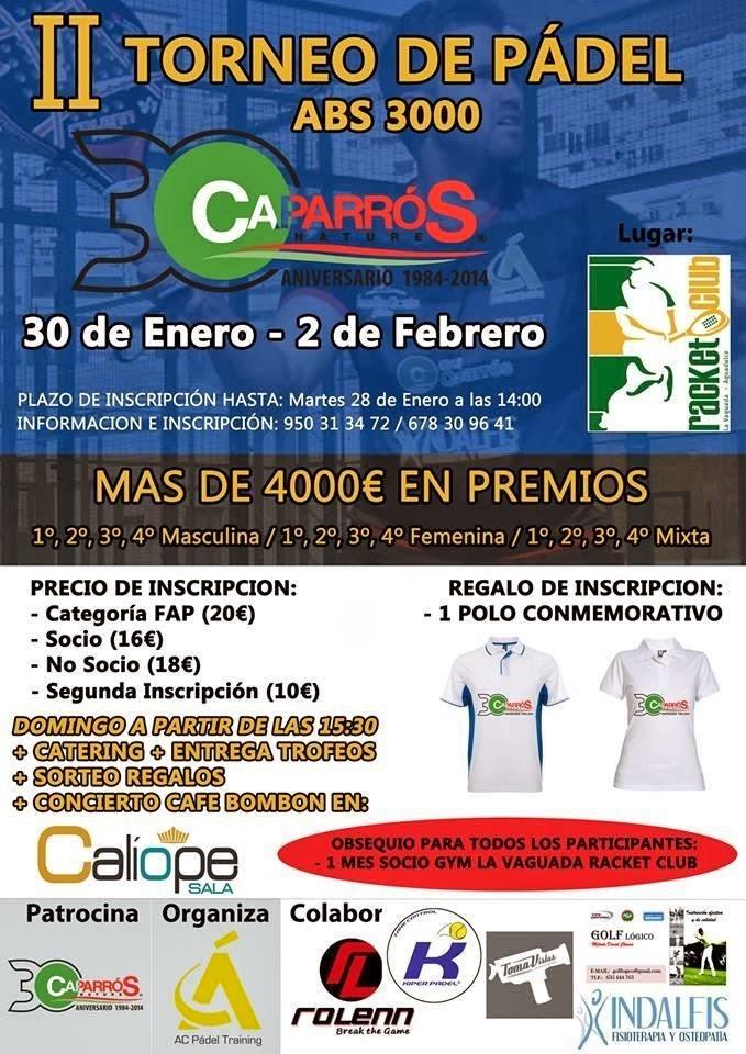 Cartel anunciador del ABS 3000 II Torneo Grupo Caparrós