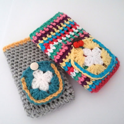 free crochet cell phone cozy pattern