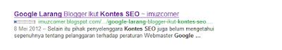 Judul Blog di mesin pencari