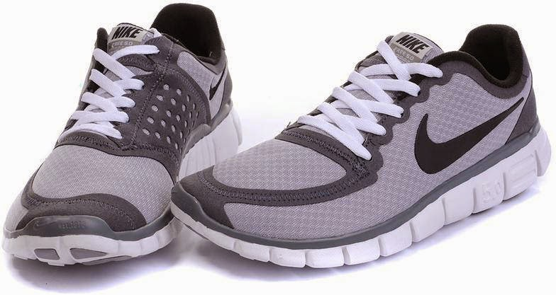 Mens Nike Free 50 V4 Grey Black Running Shoes  Nike Free Run 044