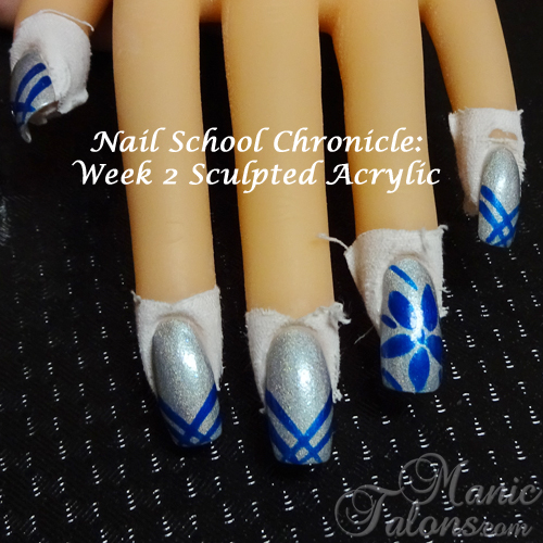 Nail School Week 2 - 2nd attempt at sculpting acrylic