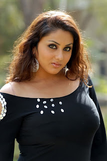 Namitha in Black Dress