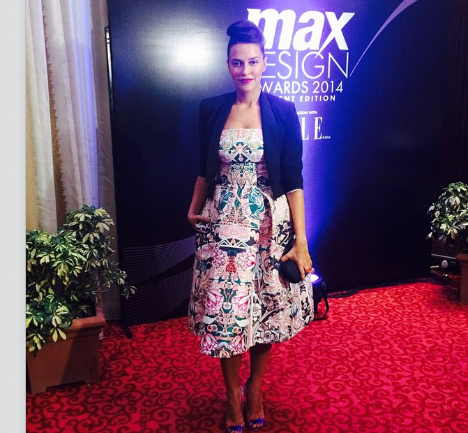 What Neha Dhupia wore at Elle Max Design awards