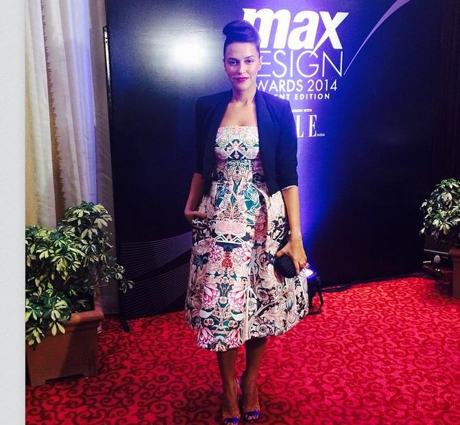 What Neha Dhupia wore at Elle Max Design awards