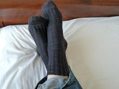 Charlene Schurch Waffle stitch socks Rooky Socks that Rock