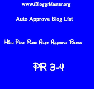 HIGH PR auto approve List for SEO