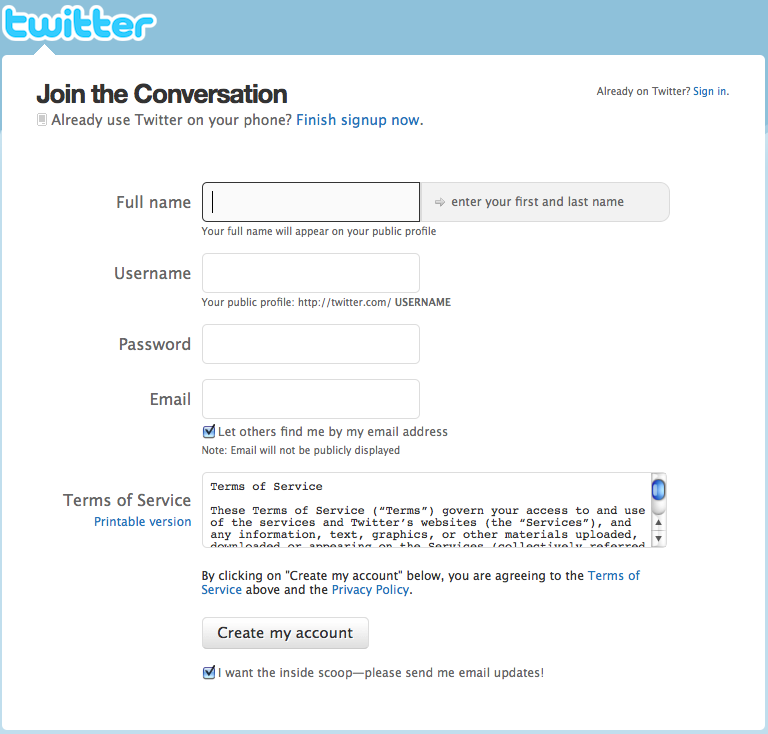 "<img src=""http://2.bp.blogspot.com/-EarorAfhDKU/VGZ1lfGw3ZI/AAAAAAAADLA/TnXERRZgJGw/s1600/url.png"" alt=""Create twitter account form"" />"