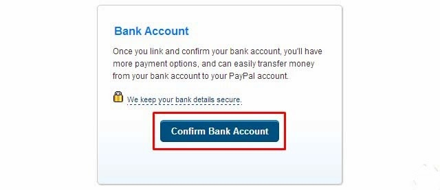 how to add any bank on paypal