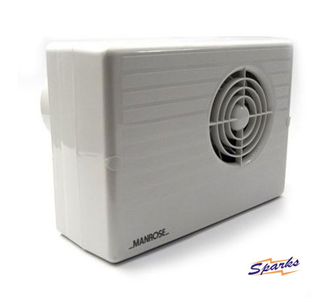 White Centrifugal Manrose Fan with Timer