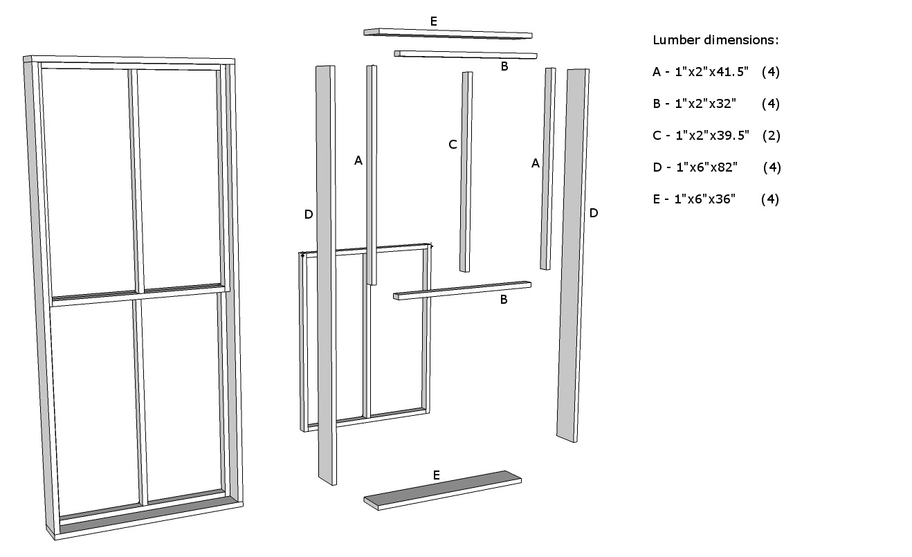first think about the basic parts that make up a double hung double paned window structurally its very simple click for larger image