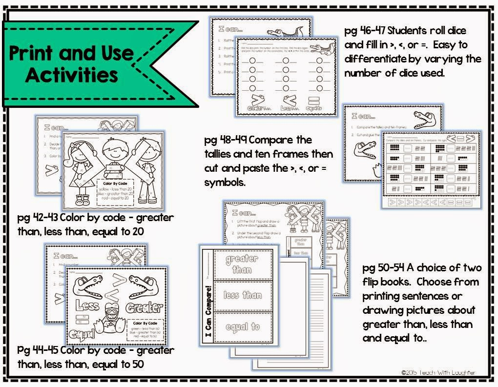worksheet Greater Less Than teach with laughter greater than less equal to and finally a few teaching tools including printable symbols in addition there are number cards 0 100