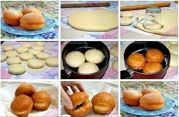 Как сделать пончики в домашних условиях рецепт с начинкой