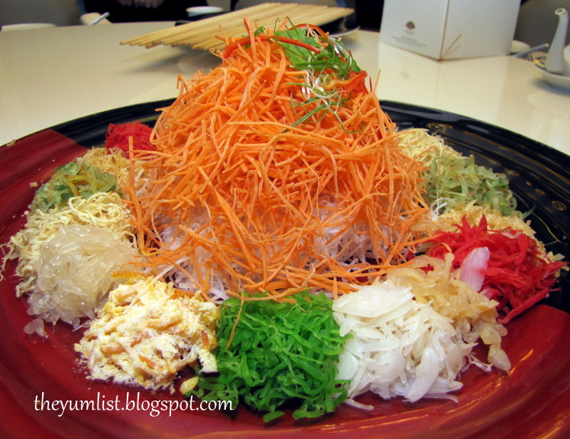 Lai po heen chinese new year menu mandarin oriental kuala lumpur yee sang with sliced abalone and salmon forumfinder Choice Image