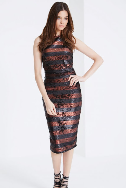 lavish alice brown black stripe dress, brown black sequin stripe dress,